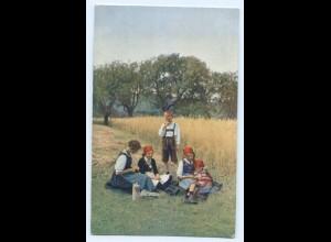 Y5200/ Erntezeit - Invalidendank Wohlfahrts AK Kinder bei der Ernte ca.1914