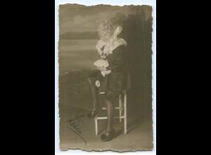 Y5422/ Fasching Karneval junge Frau Foto AK 1921