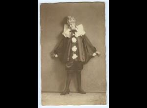 Y5421/ Fasching Karneval junge Frau Foto AK 1921