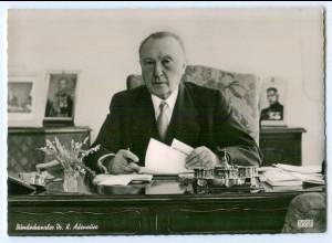 Y5197/ Bundeskanzler K. Adenauer AK ca.1960