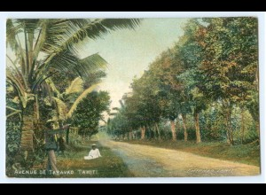 Y5370/ Tahiti Avenue de Taravao AK 1914