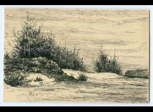 Y5273/ Handgemalte AK Landschaft 1912
