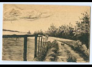 Y5274/ Handgemalte AK Landschaft 1911