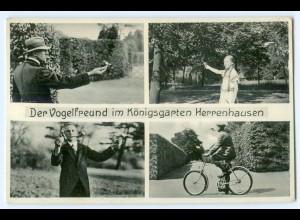 T4624/ Hannover Herrenhausen Vogelfreund auf Göricke Fahrrad AK ca.1930