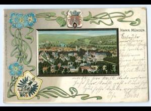 T4659-3510/ Hann Münden Litho Jugendstil AK 1903