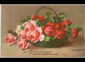 T4966/ C. Klein Rosen Blumen Verlag: HWB 1936