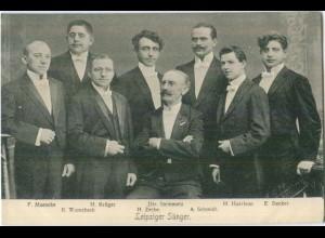 Y5478/ Leipziger Sänger Musik AK ca.1910