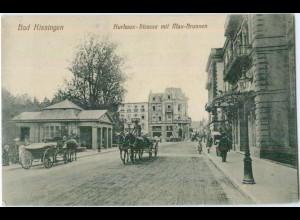 Y5489/ Bad Kissingen Kurhaus-Straße AK Kutsche 1918