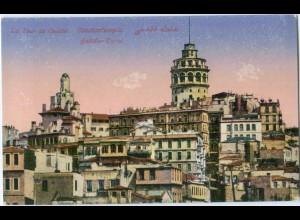 T4857/ Constantinople Galata-Turm AK Türkei 1918