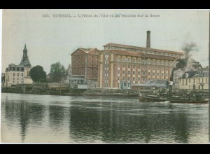 S007/ Corbeil L`Hotel de Ville et les Moulins.. AK ca.1910 Frankreich