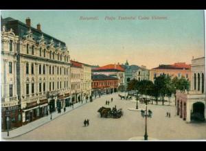 S082/ Bukarest Bucuresti Piata Teatrului.... Rumänien AK ca.1912