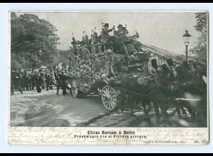 T5255/ Zirkus Barnum & Bailey Prunkwagen AK 1900