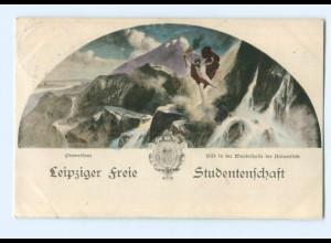 Y5496/ Leipziger Freie Studentschaft Studentika AK 1909