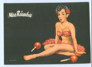 Y5526/ Miss Rumba schöne AK sign: Berca Musik Pin Up ca.1960 Tanzen