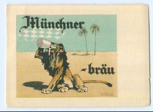 Y5620/ Münchener Löwen-Bräu Bier Reklame Künstler AK ca.1935 K. Olshausen