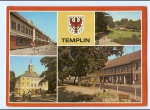 Y5867/ Templin Rathaus Uferpromenade am Templiner Kanal AK