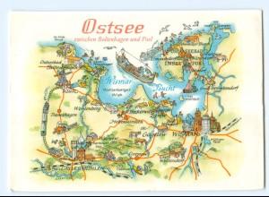 Y5664/ Ostsee zwischen Boltenhagen und Poel Landkarten AK Bild und Heimat