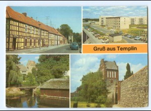 Y5864/ Templin Stadtmauer mit Prenzlauer Tor AK