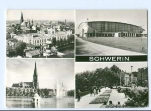 Y5968/ Schwerin Am Pfaffenteich Blick vom Dom AK