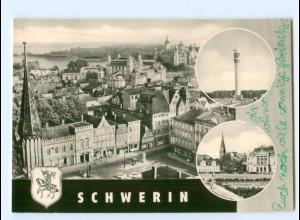 Y5977/ Schwerin Blick vom Dom auf Meckl. Staatstheater und Schloß AK