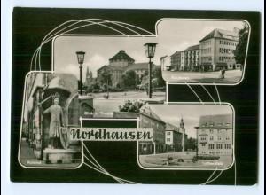 Y5806/ Nordhausen Lutherplatz Theater Roland AK