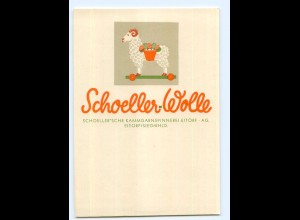Y5650/ Schoeller-Wolle Kammgarnspinnerei in Eitorf Sieg Reklame AK