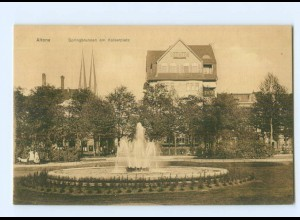 Y6007/ Hamburg Altona Springbrunnen am Kaiserplatz AK