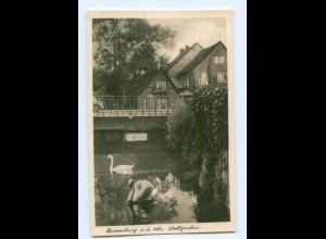 T5384-192./ Boizenburg Wallgraben Foto AK ca.1940