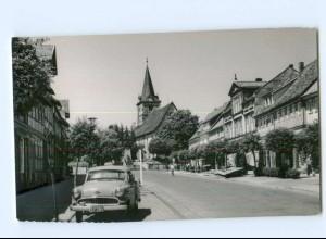 Y6496/ Bad Sachsa Marktstr. Opel Rekord AK ca.1955