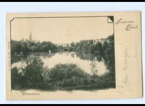 Y5608/ Gruß aus Lübeck Mühlenteich 1901