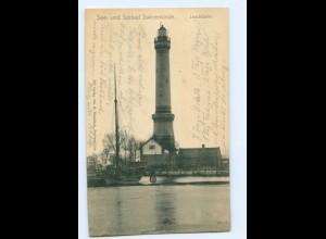 Y5574/ Swinemünde Leuchtturm AK Pommern 1906