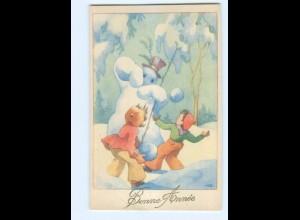 Y5561/ Bonne Annee Neujahr Kinder Scheemann AK ca.1950