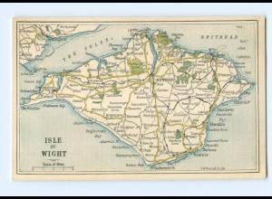 T5702/ Isle of Wight Landkarten AK ca.1925 Großbritannien