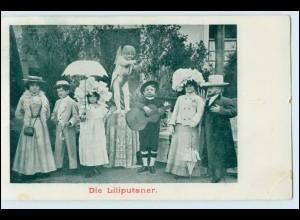 T1005/ Liliputaner Variete AK ca.1900