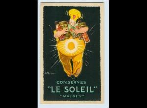 """I1802/ Conserves """"Le Soleil"""" Mailines Litho AK Reklame ca.1930"""