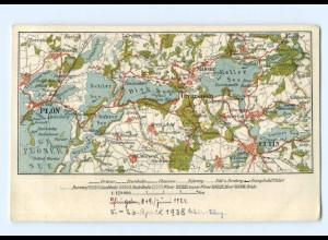 T6240/ Landkarten AK Plön Eutin Malente 1924