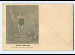 T6238/ Hans Dohlen stärkster Athlet Amerikas Gewichtheben Variete ca.1905 AK