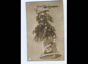 T6222/ Fotomontage Foto AK Weihnachten Glocke 1913