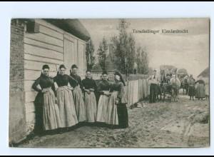T6144/ Terschellinger Kleederdracht Trachten Niederlande AK ca.1920