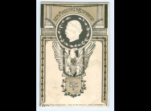 T6128/ Bismarck Trauerpostkarte AK Prägedruck 1898