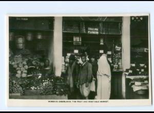 T6179/ Casablanca Marokko Fruit Market Foto AK ca.1930