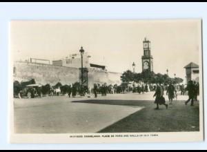 T6181/ Casablanca Marokko Place de Paris Foto AK ca.1930