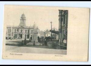 T6176/ Port Elisabeth Markt-Platz Südafrika AK ca.1910
