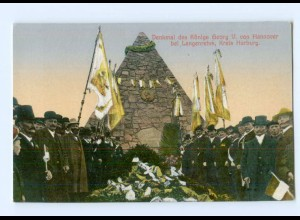 DP286/ Langenrehm Krs. Harburg Denkmal König Georg V.v. Hannover AK