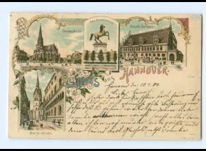 T6337/ Gruß aus Hannover schöne Litho Ak 1905