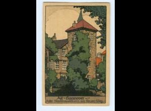 T6339/ Steinzeichnung Alt-Hannover Litho AK ca.1920