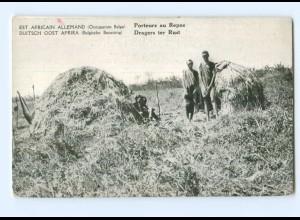 T6628/ Deutsch-Ost-Afrika Belgische Besetzung AK Dragers ter Rust