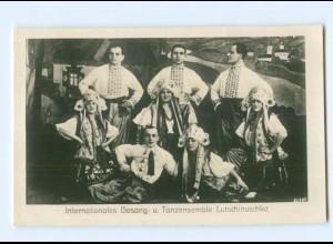Y6471/ Intern. Gesang- u. Tanzensemble Lutschinuschka Foto AK ca.1930