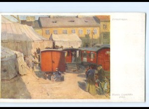 Y8401/ Zirkustruppe Wiener Kunst AK ca.1912 Zirkus