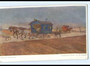 Y8402/ Wandernder Zirkus Wiener Künstler AK Oswald Roux ca.1912